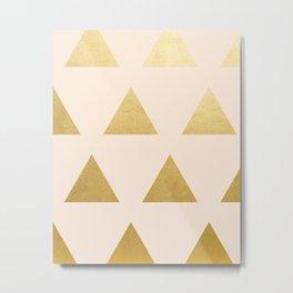 Blush + Gold Triangles #society6 #decor #buyart Metal Print
