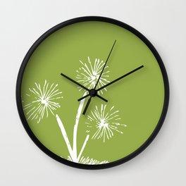 Three Dandelions Wall Clock