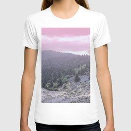 Pink Sunset on Mountains T-shirt