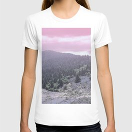 Pink Sunset on Mountains T-shirt