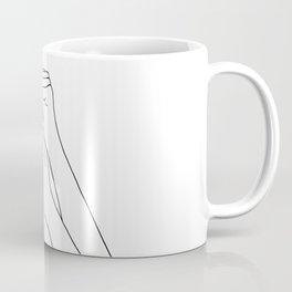 Woman's arms line drawing illustration - Davi Coffee Mug