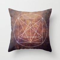 grunge Throw Pillows featuring grunge by Kozza