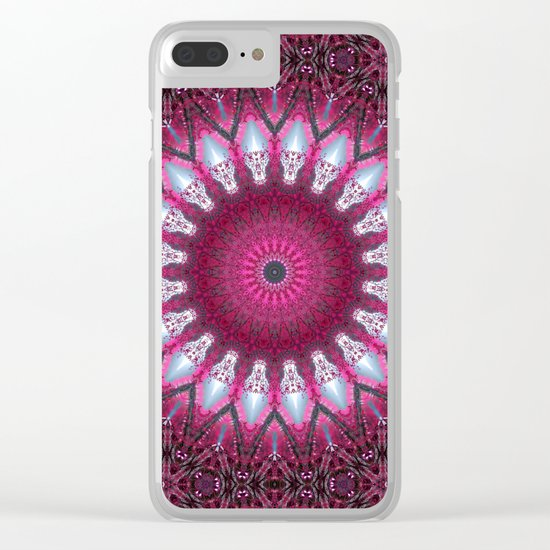 Kaleidoscope pink colors. Clear iPhone Case