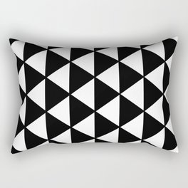 Black And White Triangles Pattern Rectangular Pillow