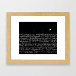 Night belongs to Reindeer Framed Art Print