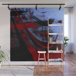 Impressionist Old Red Sailship Wall Mural