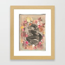 Quirky  1950's couple Framed Art Print