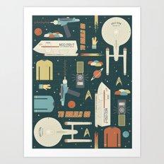 To Boldly Go... Art Print