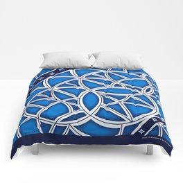 """Blue Grate"" Industria Collection Comforters"