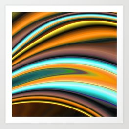 Abstract Fractal Colorways 01BR Art Print