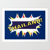 thailand Art Prints featuring Thailand by mailboxdisco