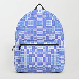 Periwinkle Blue Pixels Pattern Backpack
