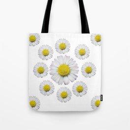 ALL WHITE SHASTA DAISY FLOWERS ART Tote Bag