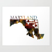 maryland Art Prints featuring Maryland by david zobel
