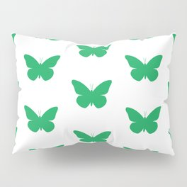 Green Butterfly Pattern and Print Pillow Sham