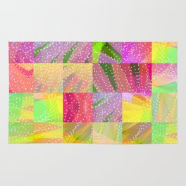 Colorful Summer Party Fun Time Rug