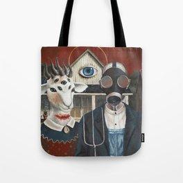Amerikan Gothique Tote Bag