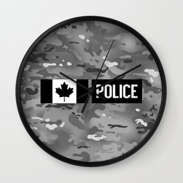 Canadian Police: Urban Camouflage Wall Clock