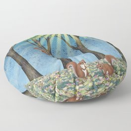 sunshine squirrels Floor Pillow