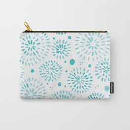 Abstract watercolor sparkles – turquoise Carry-All Pouch