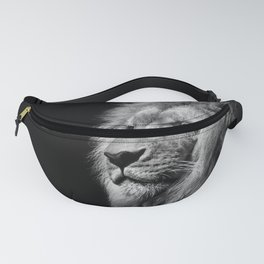 Lion Black and white Fanny Pack