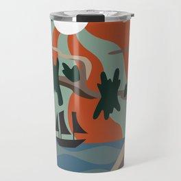 Psychedelic Sun Tree Scenery Travel Mug