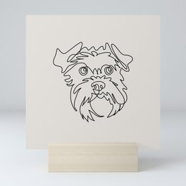 One line Schnauzer Mini Art Print