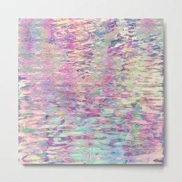 Pastel Pond Sunglow Metal Print