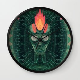 Catastrophe IV (The Green Invasion) Wall Clock