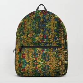 William Morris Red Poppy Tuscan Italian Floral Textile Pattern Tapestry  Backpack