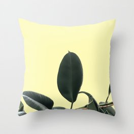ficus elastica the nature series Throw Pillow