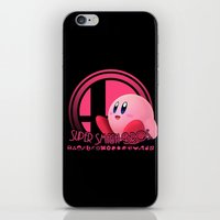 smash bros iPhone & iPod Skins featuring Kirby - Super Smash Bros. by Donkey Inferno