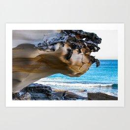 Overhang. Bronte Beach. Sydney. Australia. Art Print