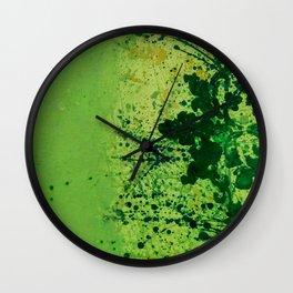 Monochrome Green Wall Clock