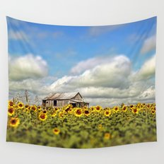 The Sunflower Farm Wall Tapestry