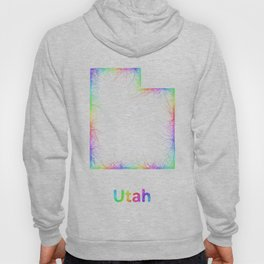 Rainbow Utah map Hoody