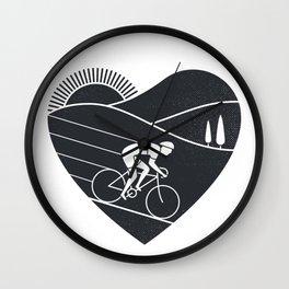Love Cycling Wall Clock