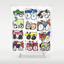 Monster Truck Kid Art by Tucker Shower Curtain