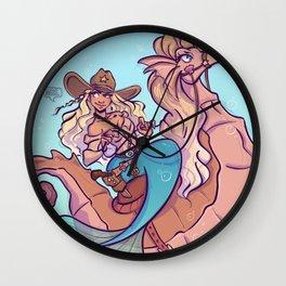 western mermaid Wall Clock