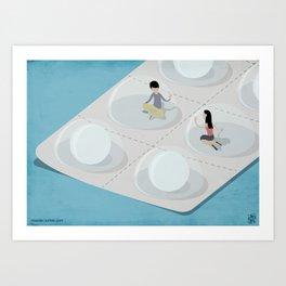 Comfort Pills Art Print
