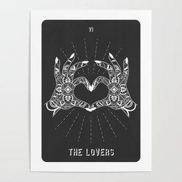 Minimal Tarot Deck The Lovers Poster