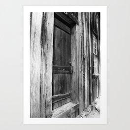 Door Between Shadows Art Print