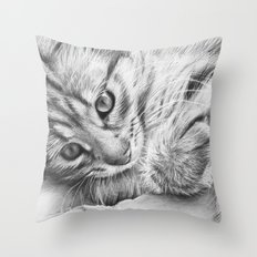 Cat Kitten Dawing Throw Pillow