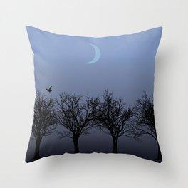 4 Trees Throw Pillow