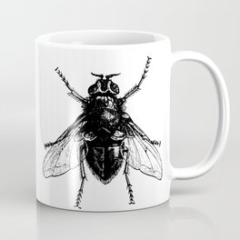 black and white fly Coffee Mug