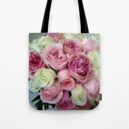 Gorgeous light pink and mauve wedding bouquet Tote Bag