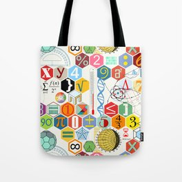 Math in color (white Background) Tote Bag
