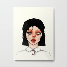 Woman02 Metal Print