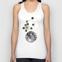 calendar Tank Tops featuring 2016 Full Moon Calendar by J Arell