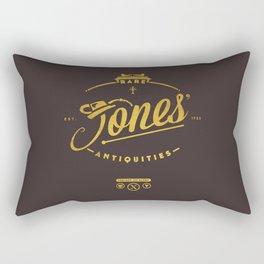 """Jones' Rare Antiquities"" - gold version Rectangular Pillow"